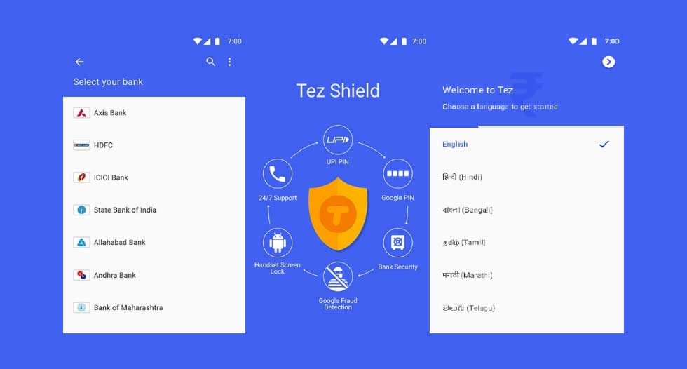 Google TEZ, UPI supported Digital Payments APP