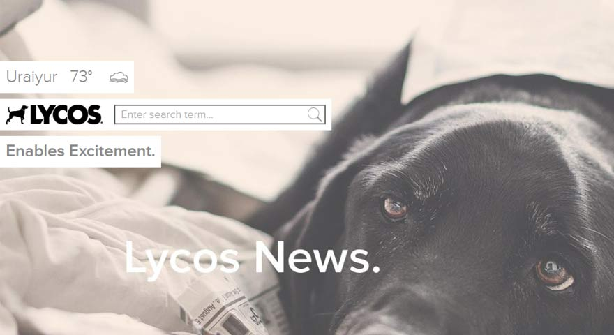 LYCOS home screen