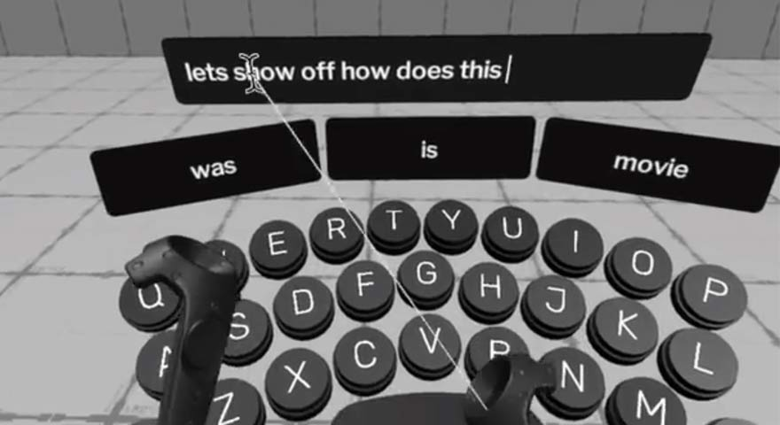 Virtual reality Keyboard by Jonathan Ravasz