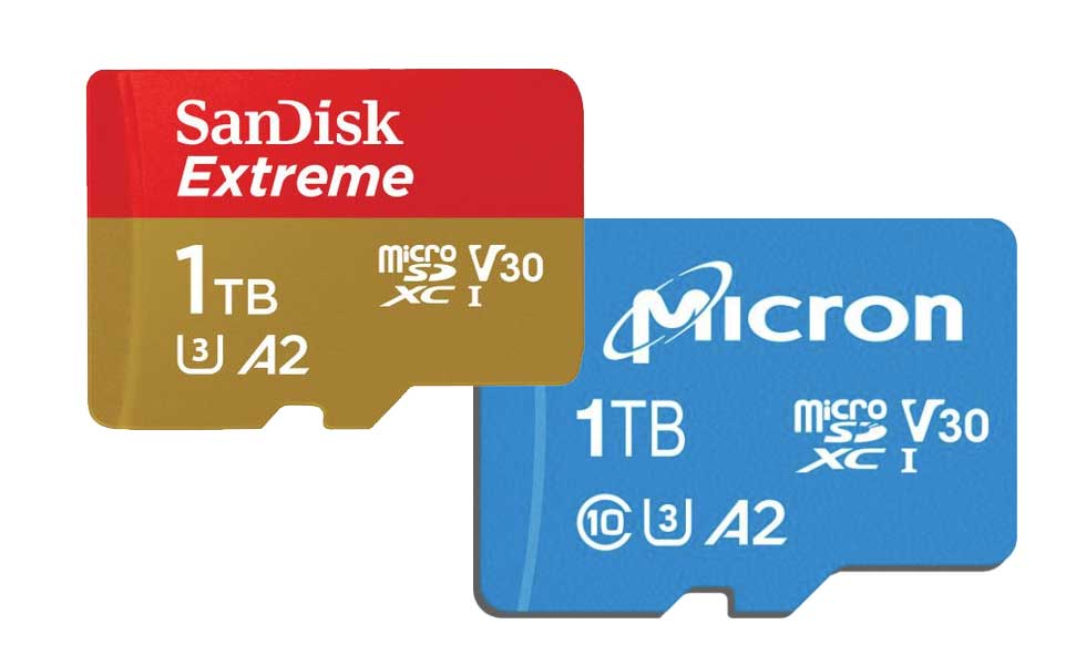 Western Digital's Sandisk and Micron 1TB microSD card