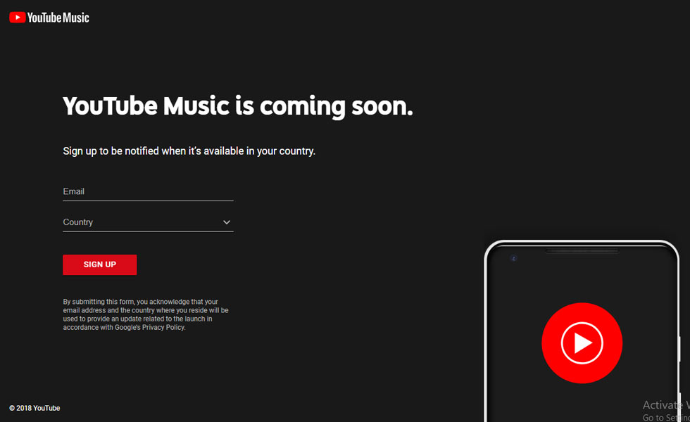 Youtube Music -a streaming music service coming soon