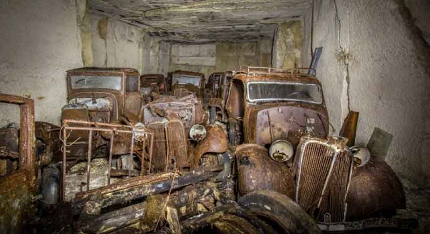 Cars hidden from hitler