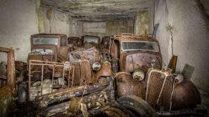 Cars hidden from hitler