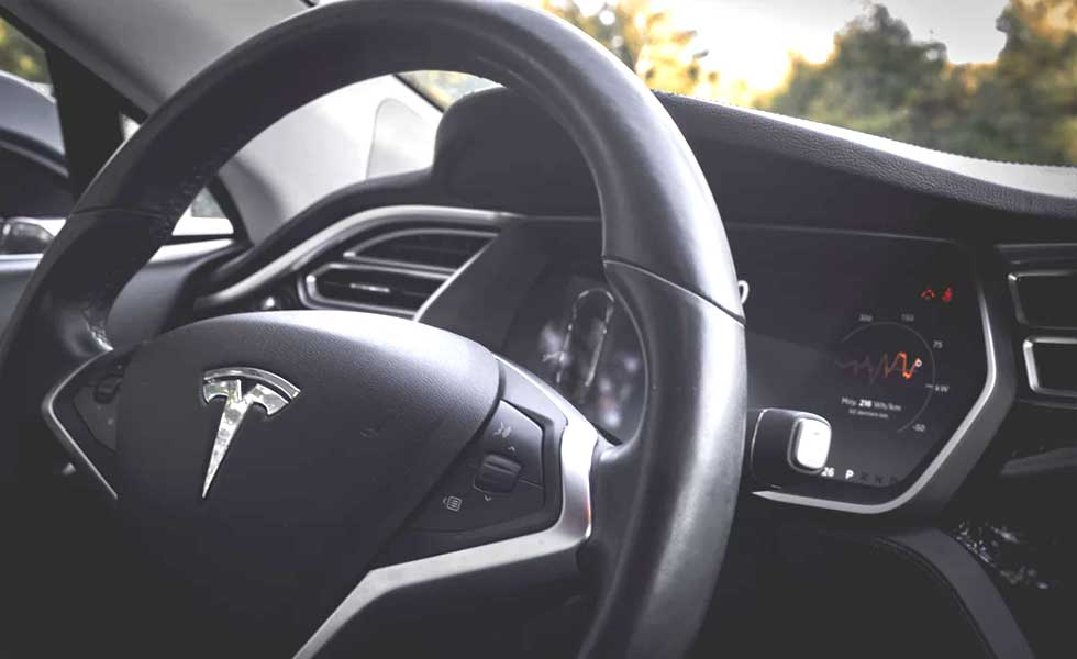 Full self-driving Tesla car