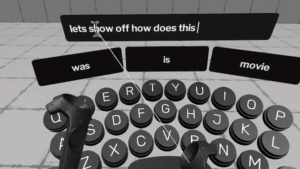 Virtual reality Keyboard by Jonathan Ravasz
