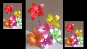 Embedded thumbnail for How to make Plastic flowers using polypropylene ribbon - How to Video ?